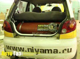 Газовое оборудование на Daewoo Matiz.