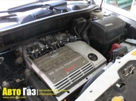 Газовое оборудование на Lexus RX300.